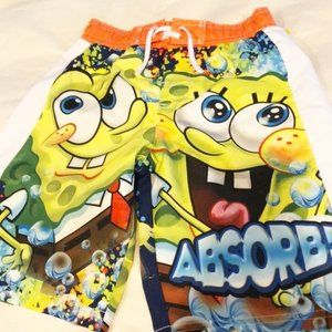 Swim shorts Spongebob Squarepants boys new sz 4-5